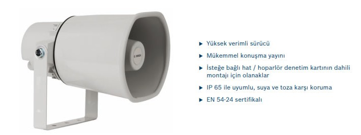 BOSCH LH110M10E  HORN LOUDSPEAKER HOPARLÖR 10W, EVAC EN5224 ONAYLI
