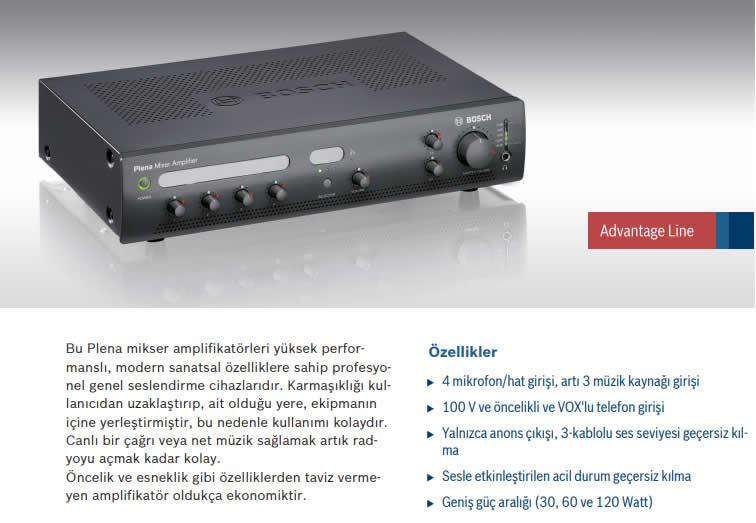BOSCH-PLE-1MA060-EU-MİKSER-AMPLİFİKATOR-60W