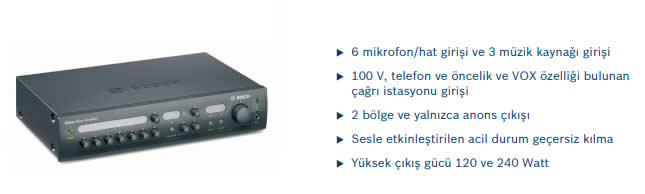BOSCH-PLE-2MA120-EU-PLENA-2-ZONLU-MİKSER-AMPLİFİKATOR-120W